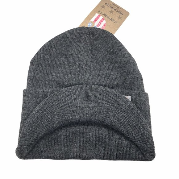CARHARTT Gray Knit Hat with Visor LAST ONE